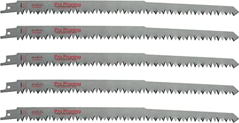 Reciprocating Saw Blades Metal Pruning 5-Pack Pruning Sawzall  12 in 5 TPI Tree