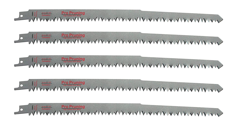 Reciprocating Saw Blades 12 In Carbide Teeth 5 TPI Sawzall Wood Cutting 1-Pack
