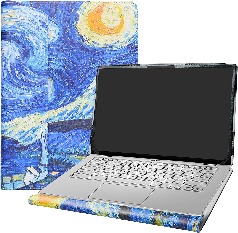 "Alapmk Protective Case Cover for 14"" ASUS Chromebook Flip C434 C434TA/ASUS Chromebook C403NA Series Laptop(Warning:Not fit ASUS Chromebook C423NA),Starry Night"