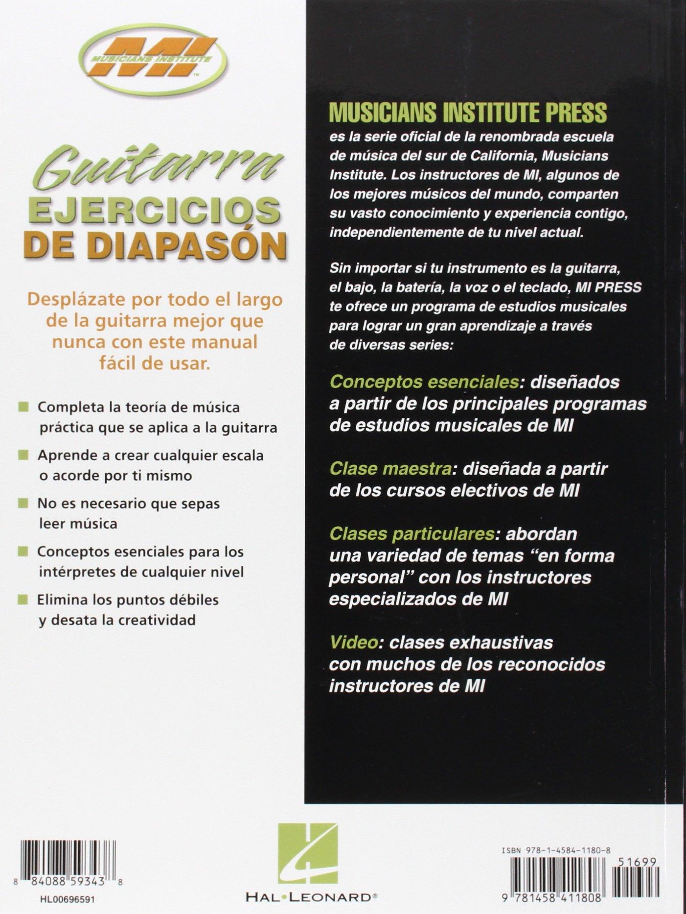 Guitarra Ejercicios de Diapason: Conceptos Esenciales: Barrett Tagliarino: 0884088593438: Amazon.com: Books