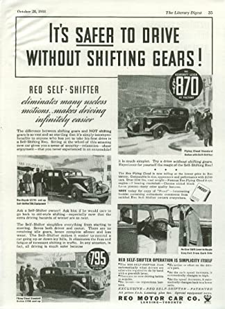 Drive In Reo >> Amazon Com It S Safer To Drive Without Shifting Gears Reo Flying
