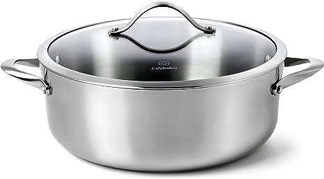Calphalon Contemporary Stainless Steel Cookware, Dutch Oven, 8-quart