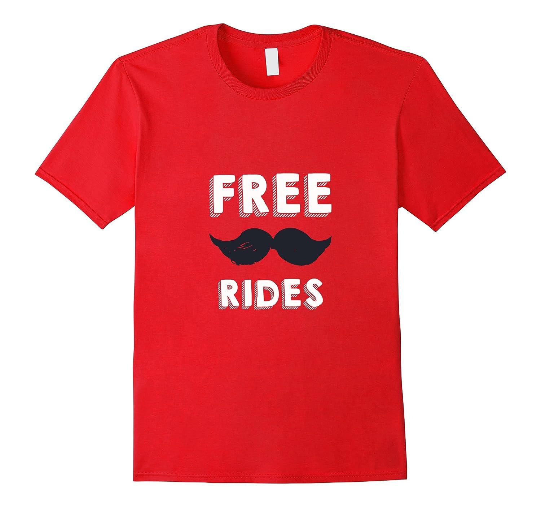 Mens Daddy Scorebucks Free Mustache Rides T-Shirt-Vaci