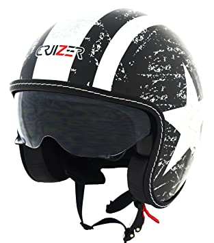 521f824325539 Amazon.es  CRUIZER Casco Moto Demi Jet Custom Scooter homologado ...
