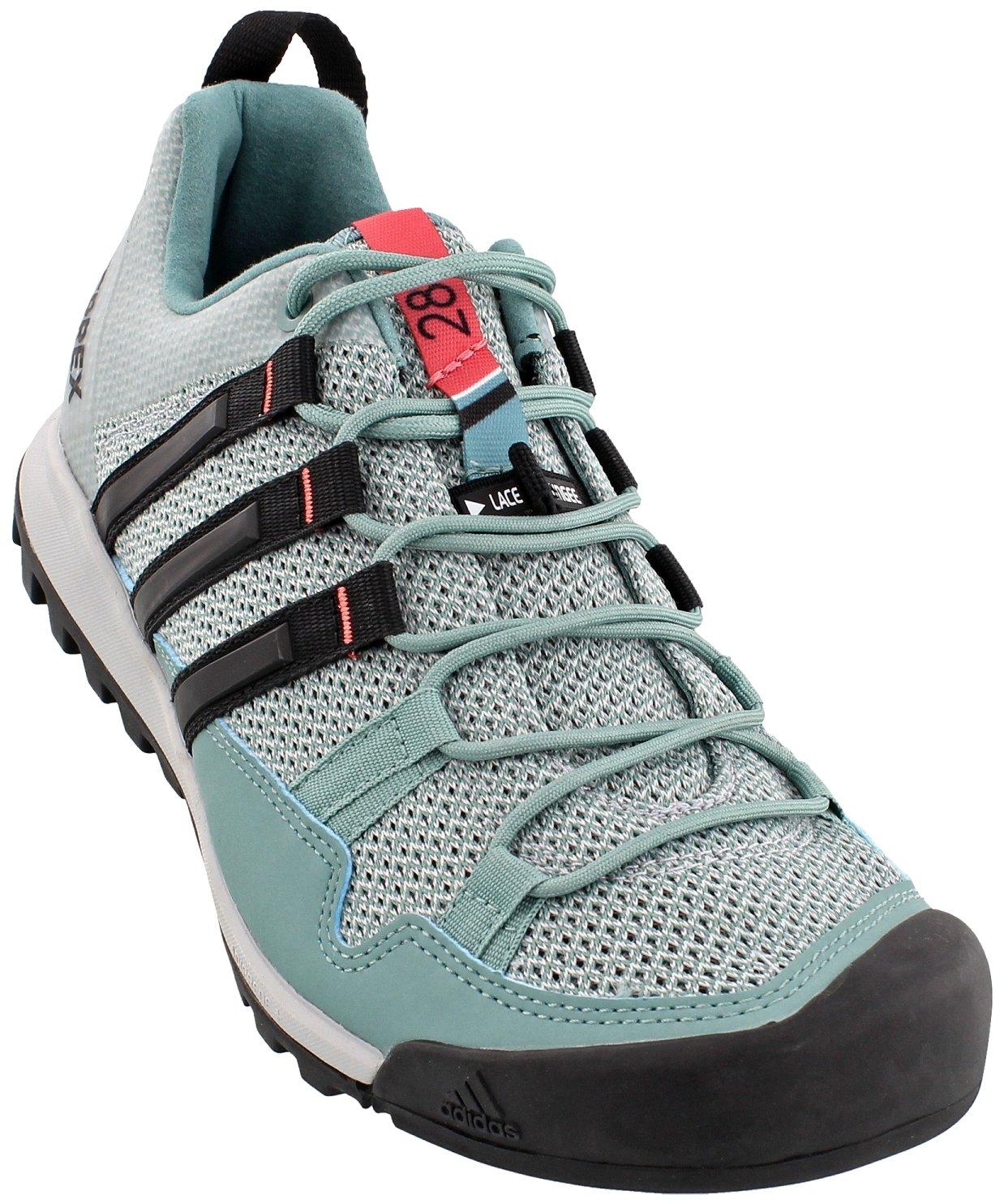 adidas outdoor Womens Terrex Solo Shoe (8 - Vapour Steel/Black/Tactile Pink)