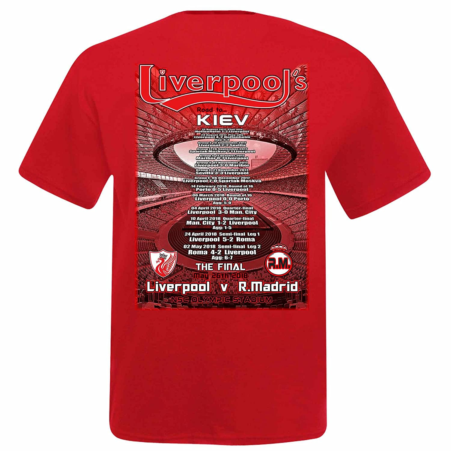 more photos 6252f 0e531 Unisex Real Madrid vs Liverpool 2018 Champions League Final T-Shirt