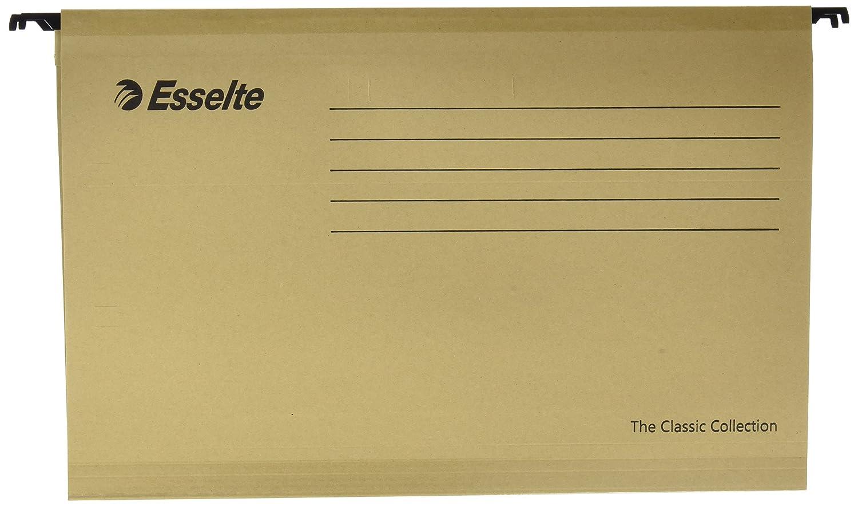 ... Tamaño folio, Cartón kraft reciclado, Visor de plástico transparente, Color natural, Classic, 93291, Caja de 50: Amazon.es: Oficina y papelería