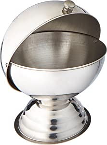 Winco 20 Ounce Sugar Bowl with Roll Top