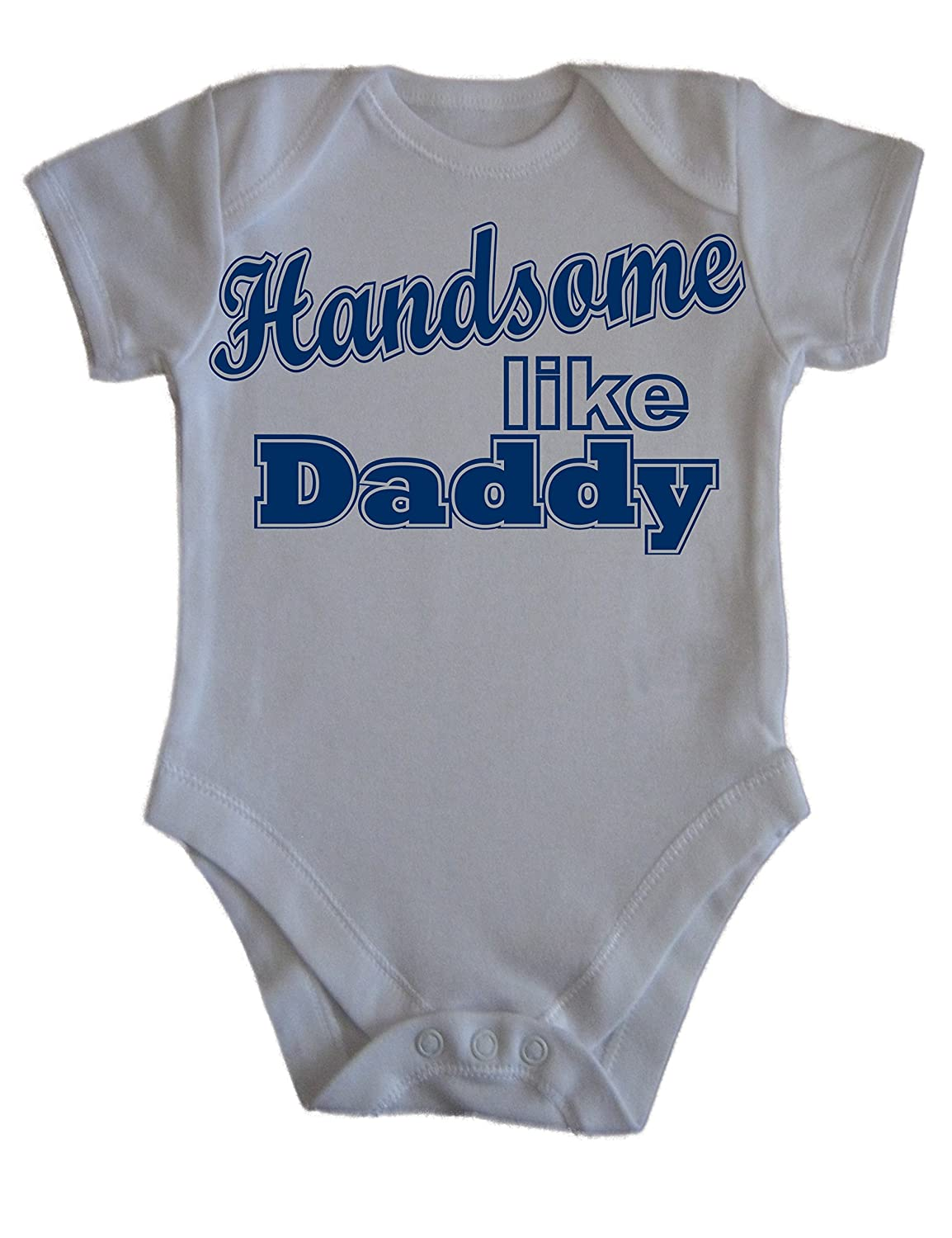 Baby Boys Handsome Like Daddy Print Babies Vest Onesie All In One Newborn-24mths (3-6 months) Kidzone