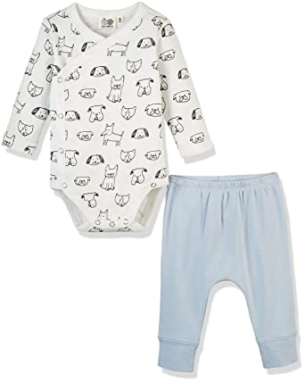 c4a5f0233135 Amazon.com  Silly Apples Baby Unisex Pure Cotton 2-Piece Long-Sleeve ...