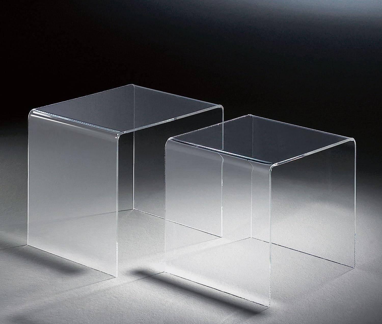 H 33 cm Acryl-Glas-St/ärke 6 mm HOWE-Deko Hochwertiger Acryl-Glas Zweisatztisch H 36 cm und 33 x 33 cm klar 40 x 33 cm