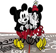 Lovepop Disney Mickey & Minnie In Love Pop Up Card, Birthday Card, 3D Card, Greeting Card, Disney Card, Birthday Pop Up Card