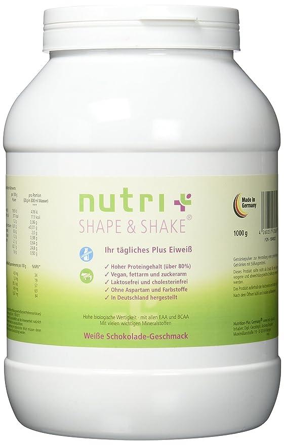 Nutri-Plus Shape & Shake - Polvo de proteínas sin aspartamo, vegano, 500 g, lactosa y proteína de leche: Amazon.es: Alimentación y bebidas