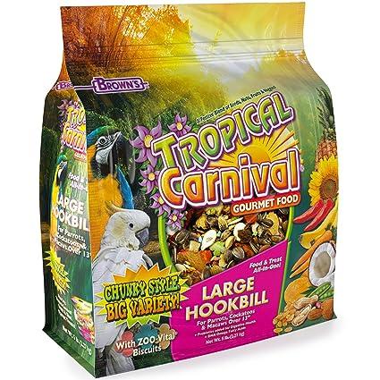 Tropical Carnival F.M. Brown s Gourmet - Ganchillo Grande para Alimentos, para Loros,