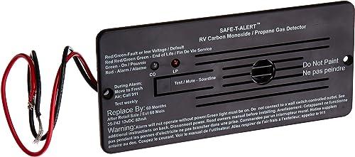 Safe-T-Alert by MTI Industries 35-742-BL Dual LP CO Alarm - 12V, 35 Series Flush Mount, Black