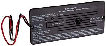 Safe-T-Alert by MTI Industries 35-742-BL Dual LP/CO Alarm-12V, 35 Series Flush Mount, Black