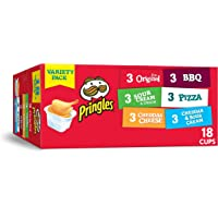 Pringles Flavored Variety Pack Potato Crisps - Original, Sour Cream and Onion, Cheddar Cheese, BBQ, Pizza, Cheddar and Sour Cream (18 Count)
