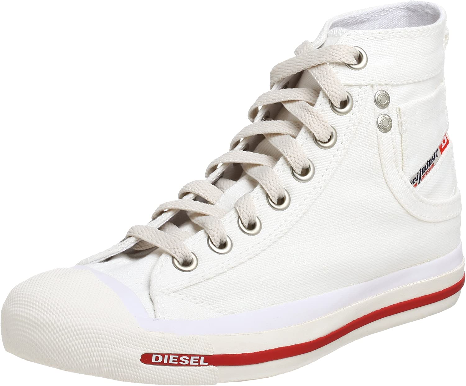 Diesel Women's Exposure Save money Lace-up Sneaker M White US Some reservation Bright 6.5