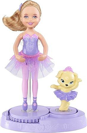 Barbie X8818 Mini Poupée Chelsea Et Son Chien En Tutu Mauve