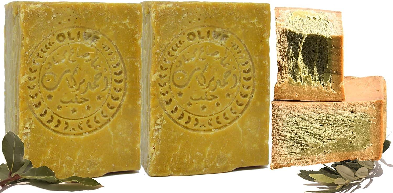 Jabón original de Alepo 2x200g 60% de aceite de oliva, 40% de aceite de laurel