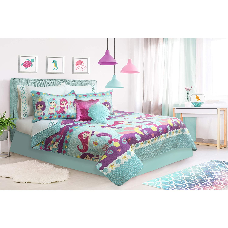 Safdie /& Co Multicolor Twin 2 Piece Coralia Quilt Set