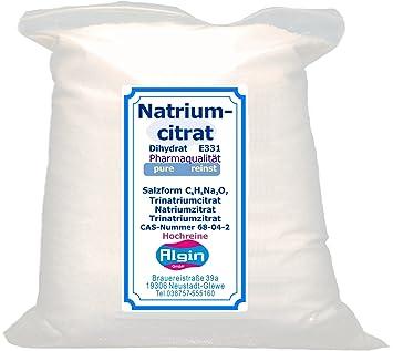 Sodio citrat 500 g Clip de Bolsa trinatriumc itra T E331: Amazon.es: Hogar