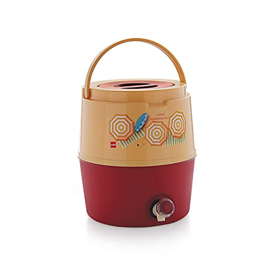 Cello Kool Star Plastic Insulated Water Jug, 15 litres, Beige