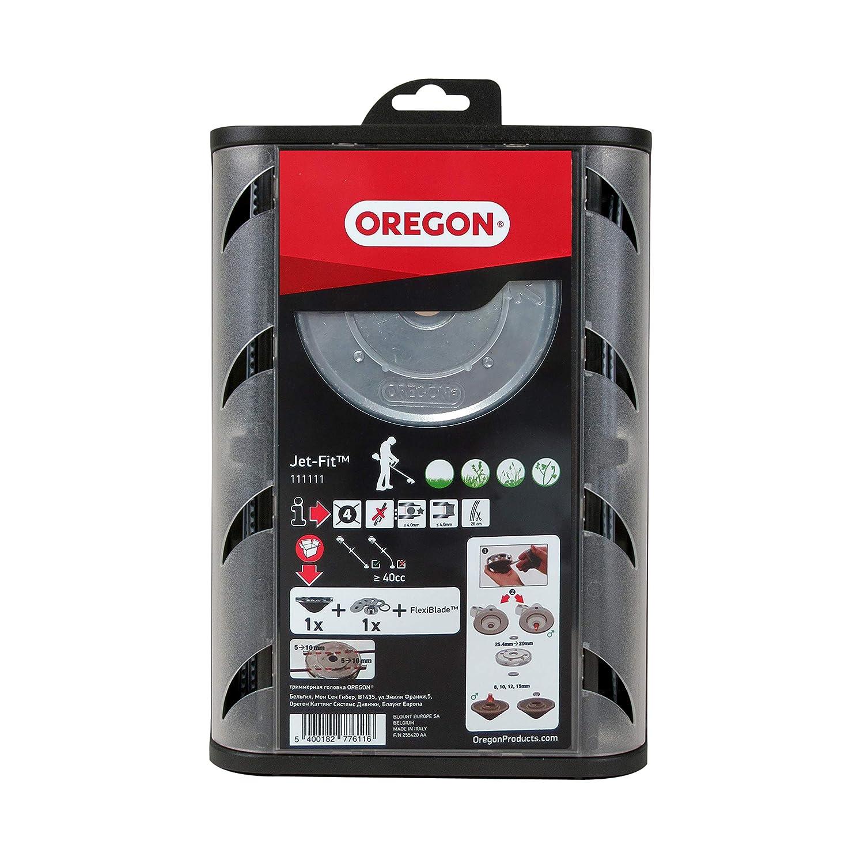 Oregon 111111 - Cabezal universal condensador de ajuste fácil de la carga de chorro de ajuste para 40cc eje recto, más con la línea de corte ...
