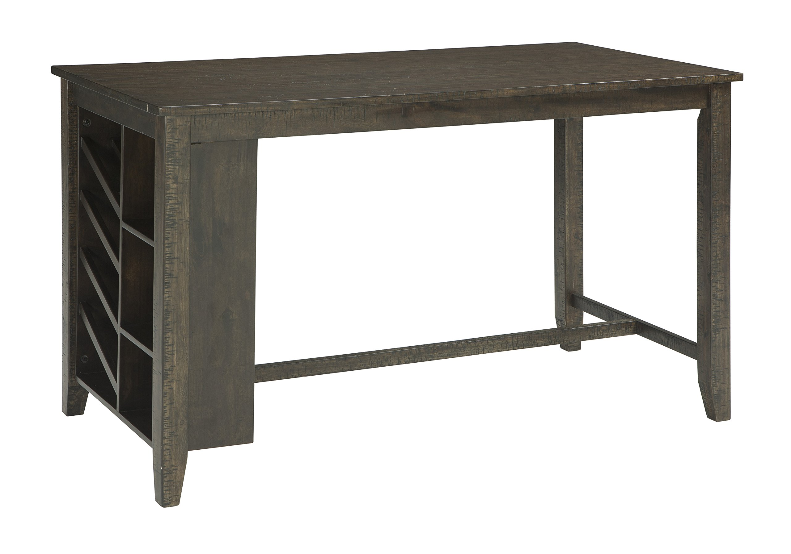 Signature Design by Ashley D397-32 Rokane Counter Height Dining Room Table, Brown
