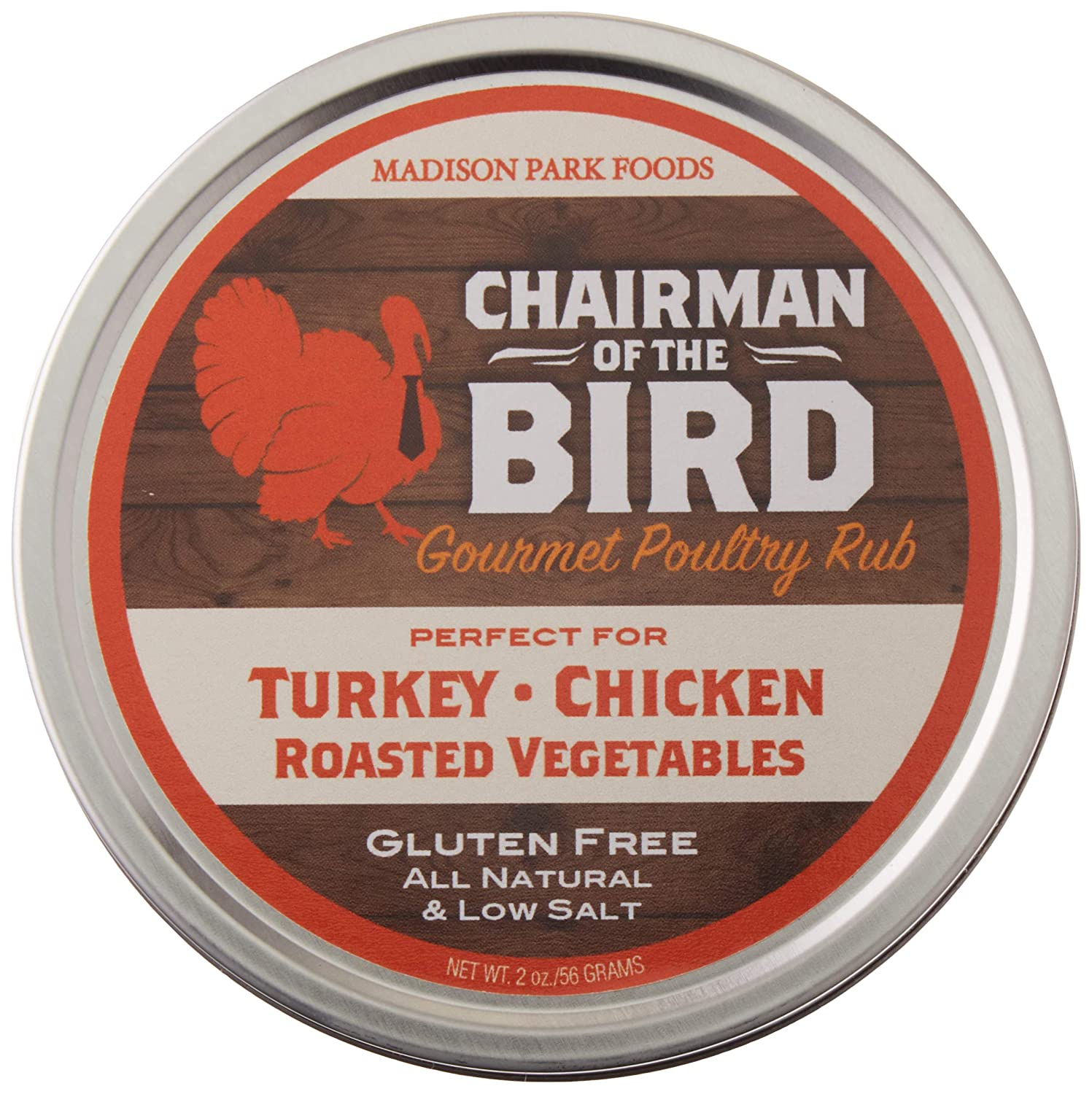 Chairman of the Bird Holiday Classic Herb Seasoning Rub for Poultry and Prime Rib - Gluten Free, All Natural, No Salt and No MSG, 2oz
