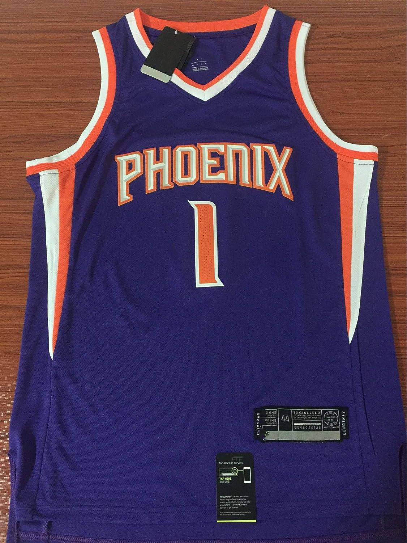 Herren Frau NBA Phoenix Suns 1# Booker Jerseys Basketballhemd Atmungsaktiv Mesh Trikots Basketballuniform Stickerei Tops Basketball Anzug