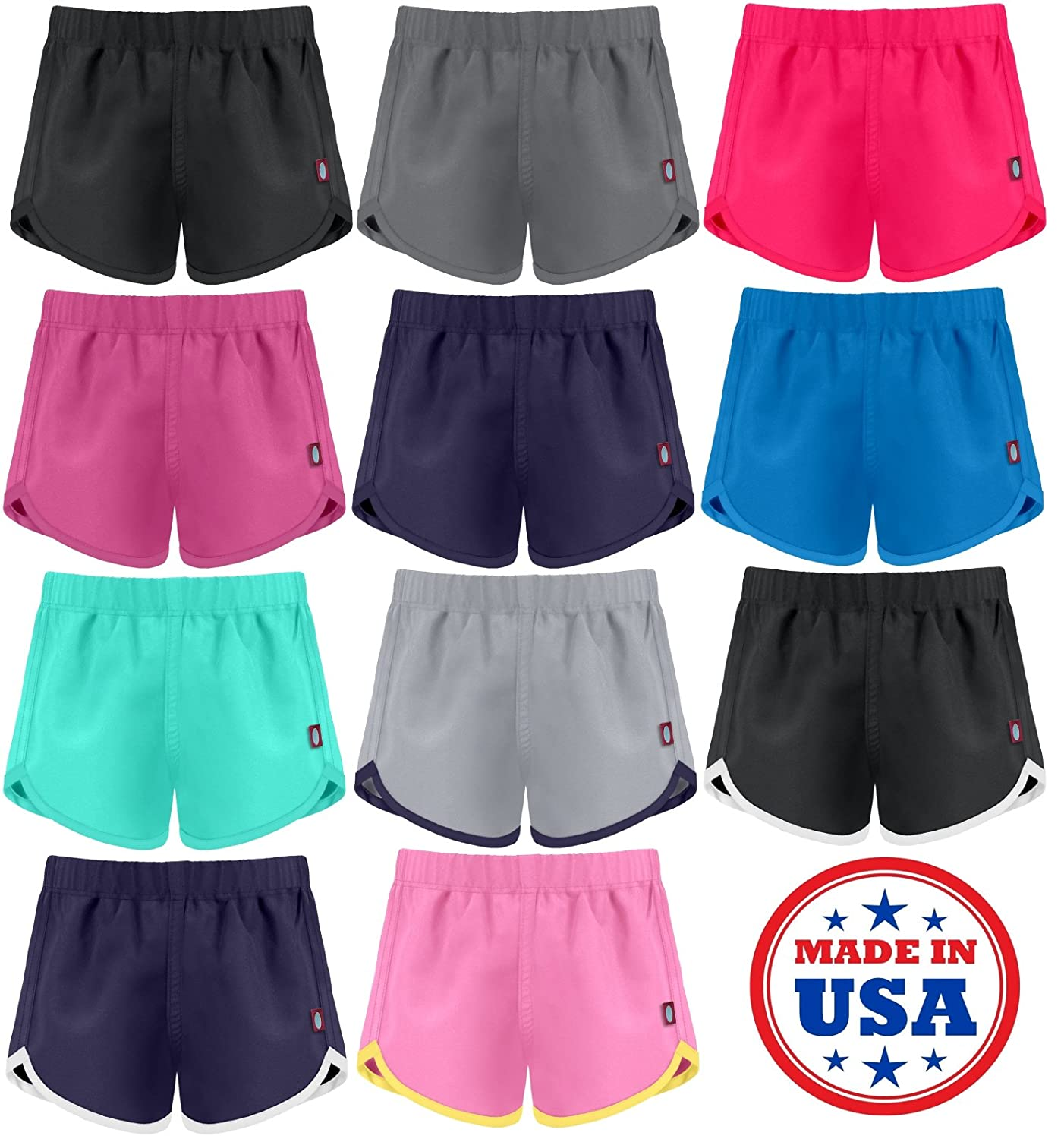 City Threads Girls Swimming Suit Bottom Board Short Swim Athletic Shorts Beach Pool Camp Running Sports Wicking Fast Dry 12 Navy