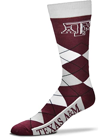 6815f81a2b8 For Bare Feet Men's NCAA Argyle Lineup Crew Dress Socks-One Size Fits Most