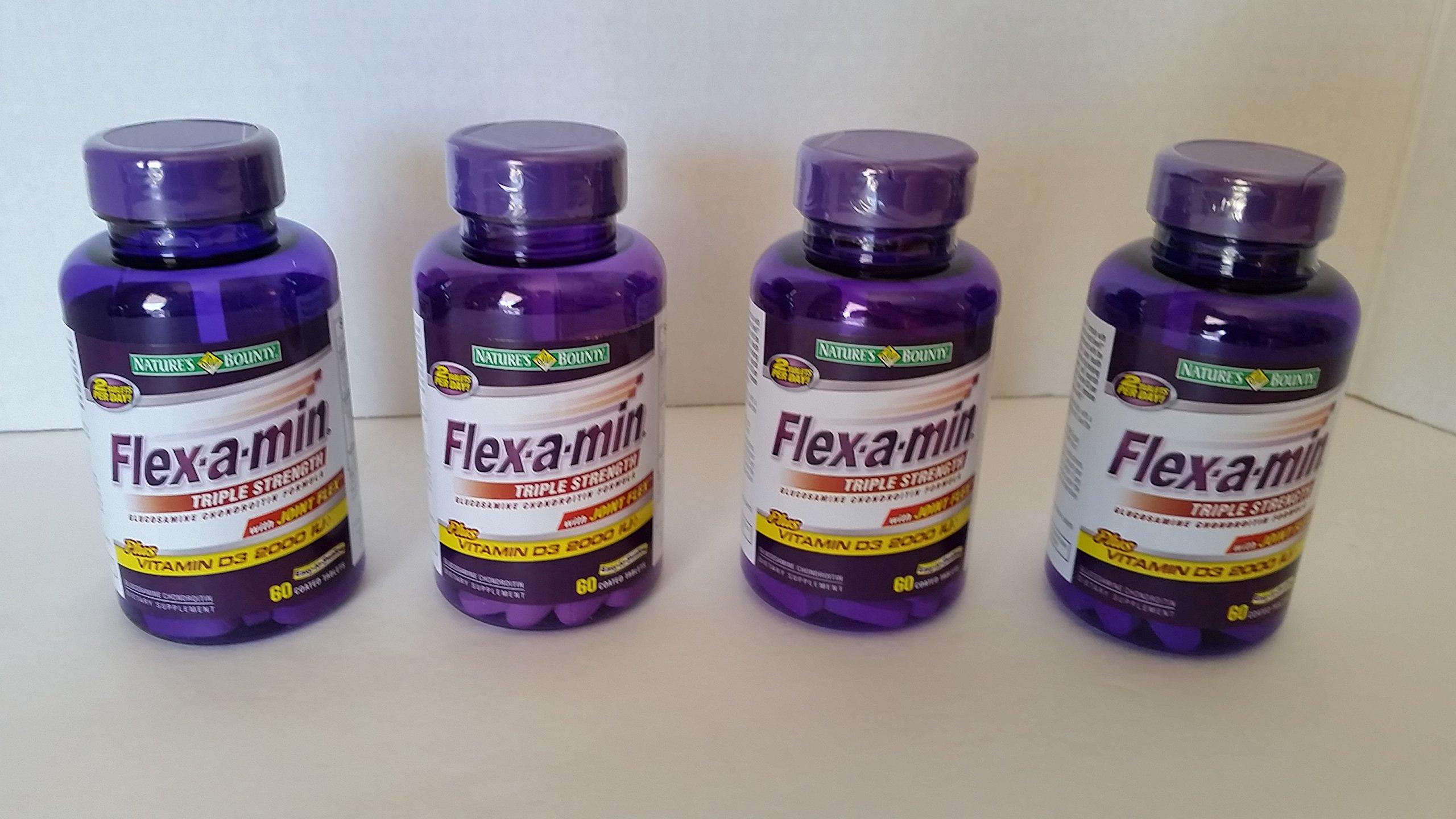 Flex-A-Min 60 Count Super Stock Up Multipack! (FOUR 60 Ct. Bottles, 240 Tablets Total!)