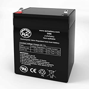 GE 60-681 12V 5Ah Alarm Battery - This is an AJC Brand Replacement