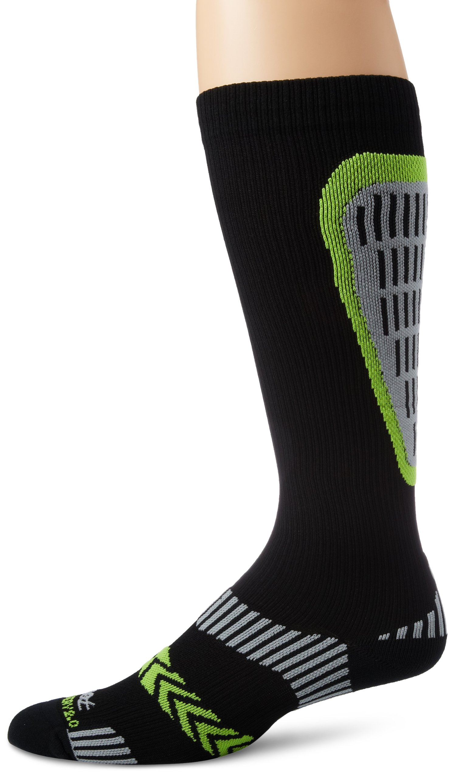 Zoot Sports Men's Ultra Recovery 2.0 CRX Socks, Black/Safety Yellow, 4 by Zoot (Image #1)