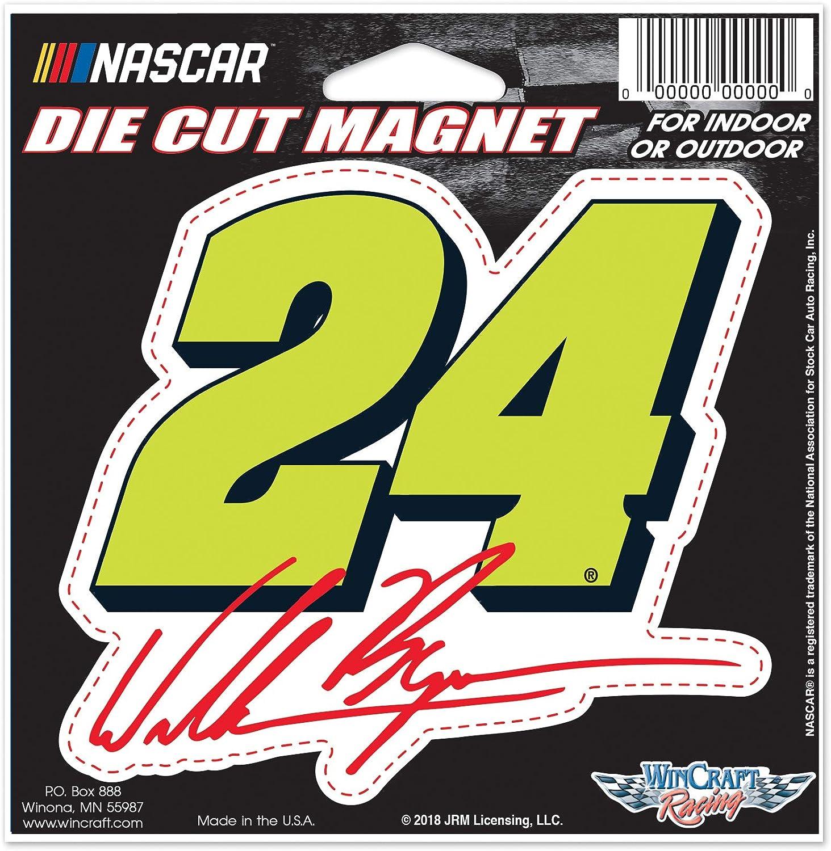 "NASCAR Hendrick Motorsports William Byron NASCAR William Byron #24 4.5"" x 6"" Die Cut Magnet, Multi, na : Sports & Outdoors"