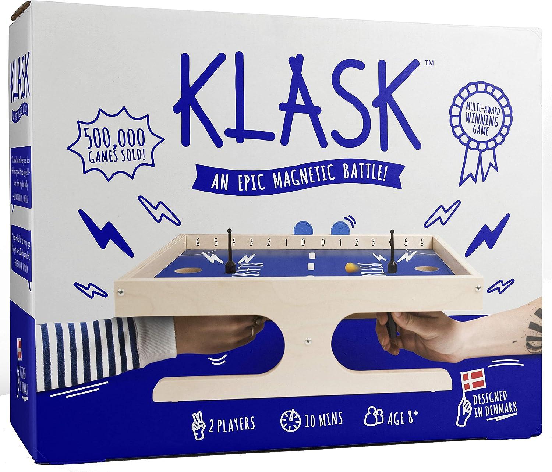 KLASK : The magnetic Award-Winning Party Game of Skill That's Half Foosball, Half Air Hockey