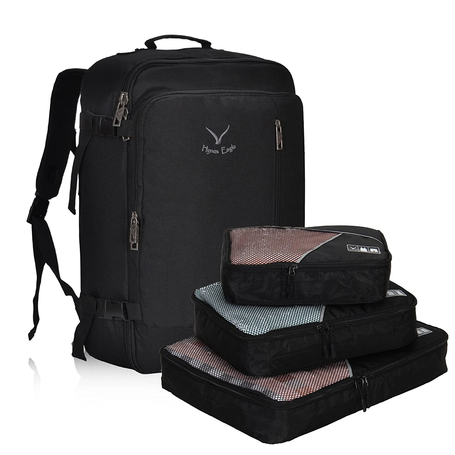 Black with 3PCS Packing Cubes