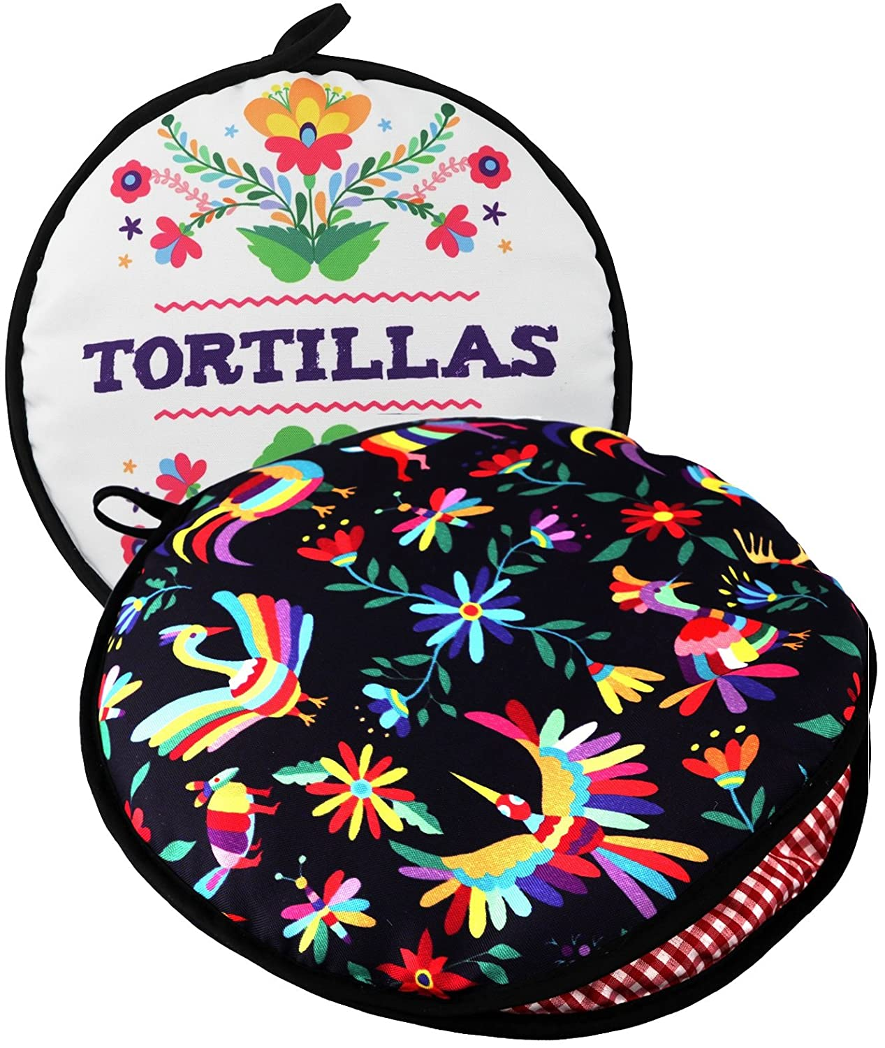 "TWO SIDED! Tortilla Warmer, Size 11"" Insulated and Microwaveable, Fabric Pouch Keeps Them Warm for up to One Hour! Perfect Holder for Corn & Flour For All Occasions! By ENdeas"