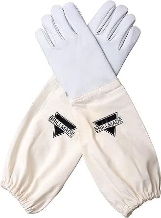 BRILLMADE Goatskin Leather Long Forearm Protection Garden Glove