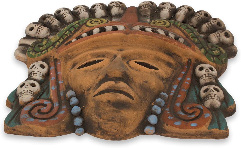 NOVICA Quetzalcoatl Death Dance Máscara de cerámica, Tono Tierra: Amazon.es: Hogar