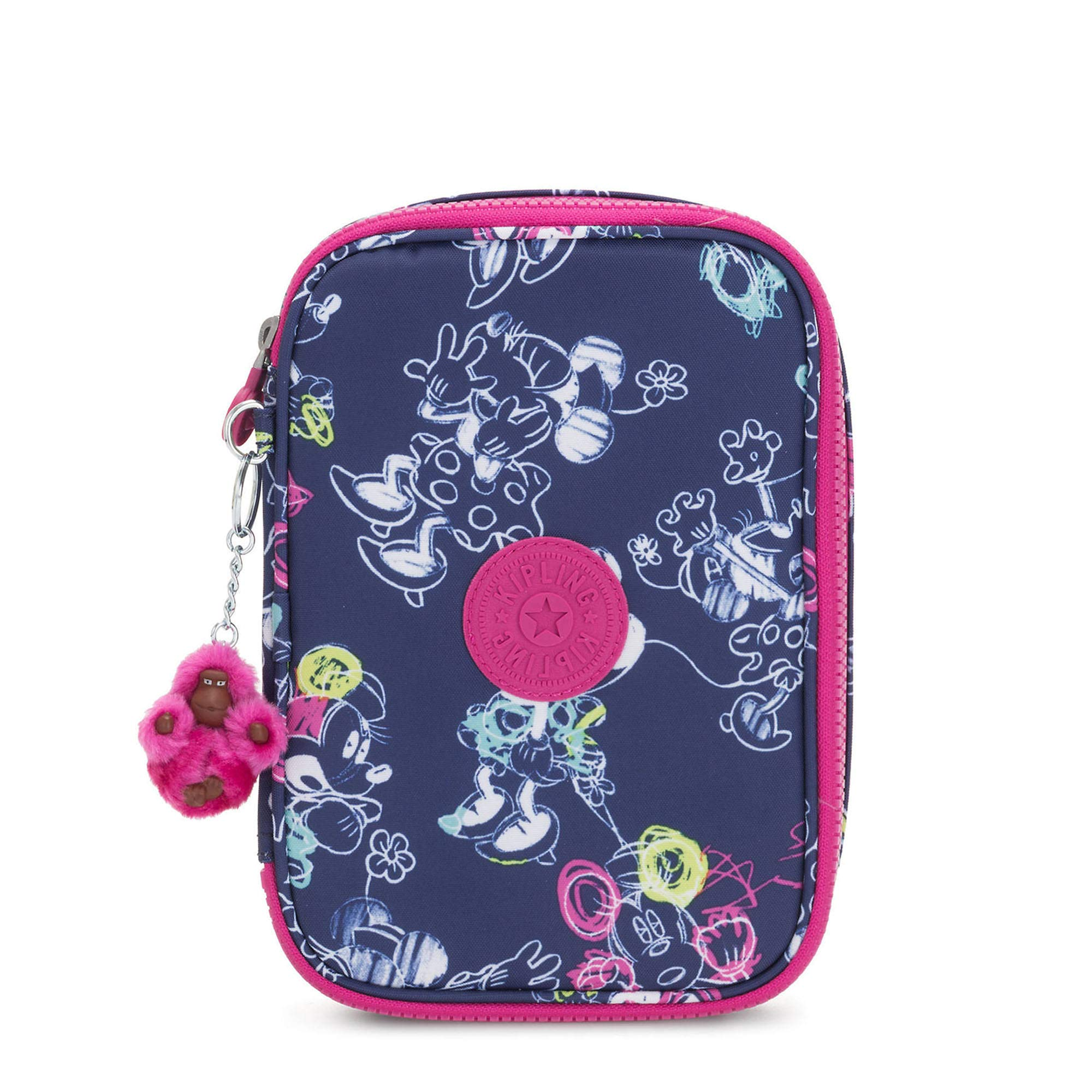 Kipling Disney's Minnie Mouse And Mickey Mouse 100 Pens Printed Case Doodle Blue by Kipling