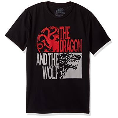 Game of Thrones Men's The Dragon and The Wolf