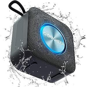Altavoces portátiles Bluetooth,Inalámbrico luz de fiesta Altavoz pequeño, caja de música TWS Bluetooth 5.0 con micrófono incorporado, DSP / TF / AUX, resistente al agua, 10H, para exteriores: Amazon.es: Electrónica