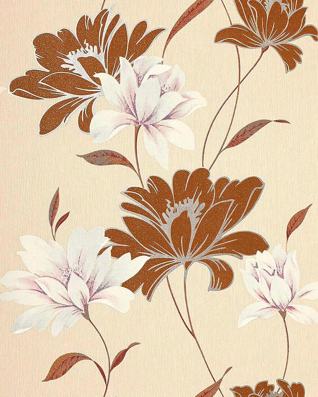 Vinyl Wallpaper Wall Floral Edem 168 31 Flowers Textured Wallpaper