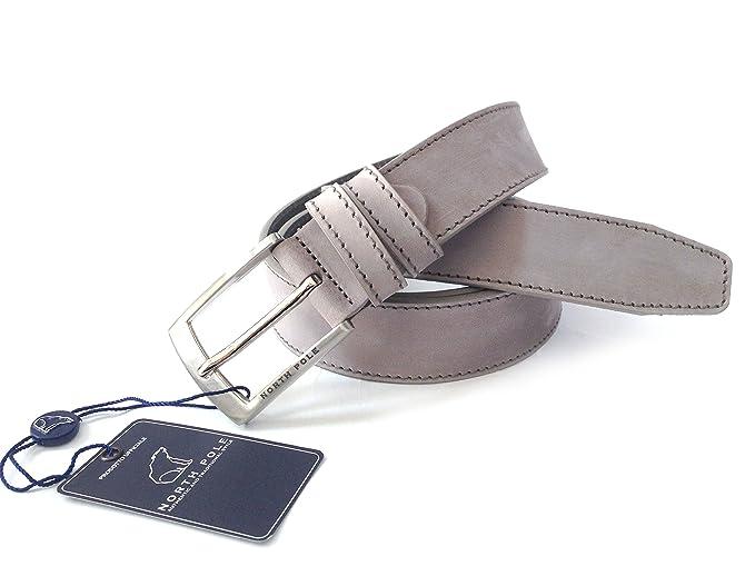 Cintura uomo NORTH POLE NP543 in vera pelle Made in Italy con confezione  regalo in metallo  Amazon.it  Abbigliamento 93e4b1879191