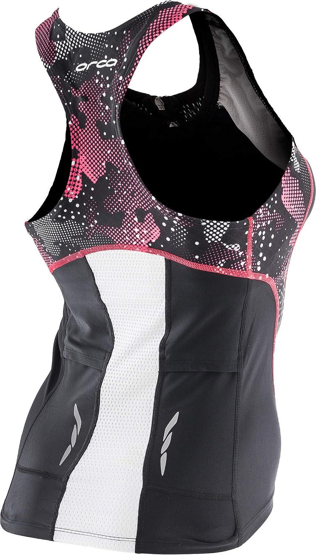 Orca Core Support Womens Triathlon Vest Black Built In Bra Tri Tank Top XS S M L