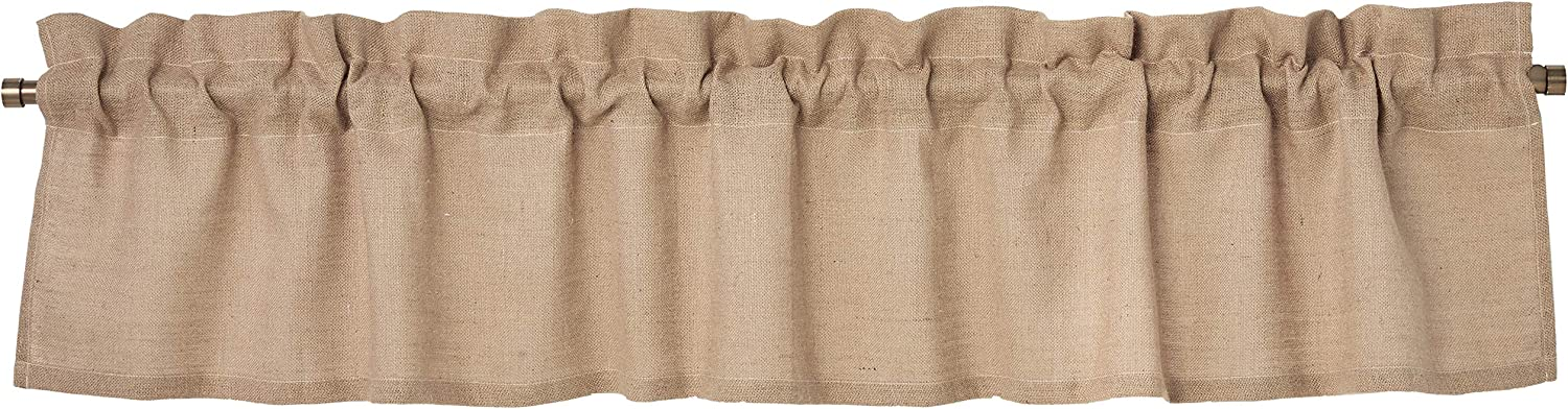 Greenland Home Fashions Burlap Window Valance, Natural