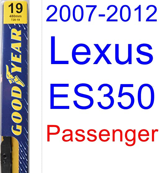 Amazon.com: 2007-2012 Lexus ES350 Replacement Wiper Blade Set/Kit (Set of 2 Blades) (Goodyear Wiper Blades-Premium) (2008,2009,2010,2011): Automotive